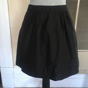 J. Crew black silk skirt
